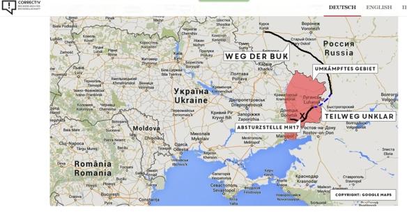 Correctiv Karte Weg der Buk